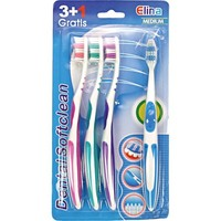Zahnbürste Elina Softclean 3+1 Anti-Rutschgriff