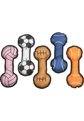 Neckermann Hondenspeelgoed - sportbal - 26x10 cm - assorti
