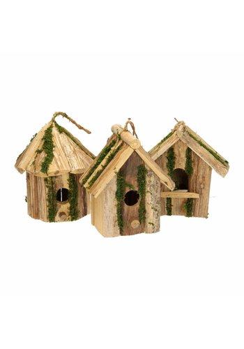 Lifetime Garden Vogelhuis van hout - 19x11x20 cm - assorti