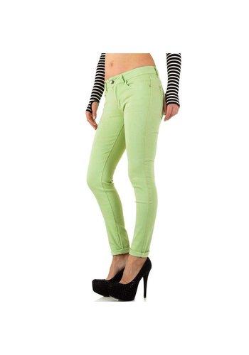 HELLO MISS Damen Jeans - LT. grün