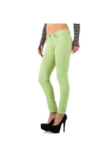 HELLO MISS Dames Jeans  - LT. groen