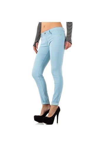 HELLO MISS Dames Jeans - LT.blauw