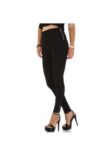 Daysie Jeans Damen Slim Fit Hose - schwarz
