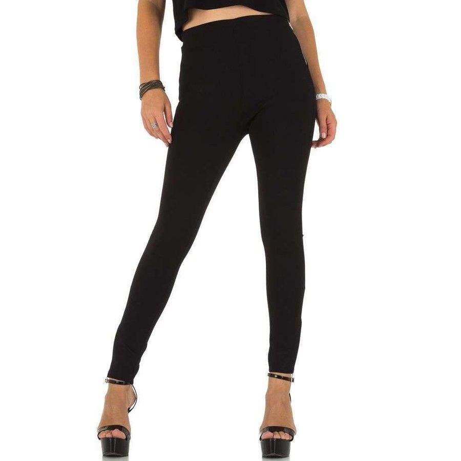 Damen Slim Fit Hose - schwarz