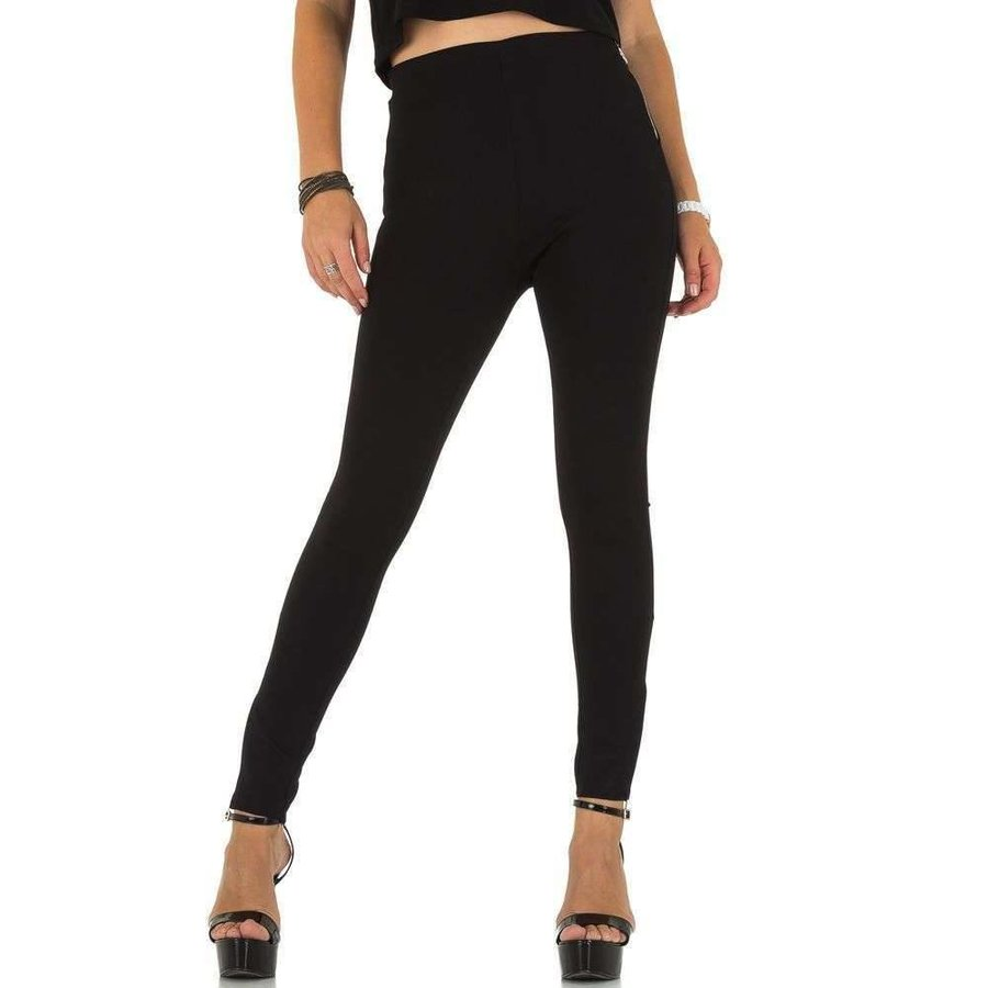 Damen Slim Fit Hose - schwarz