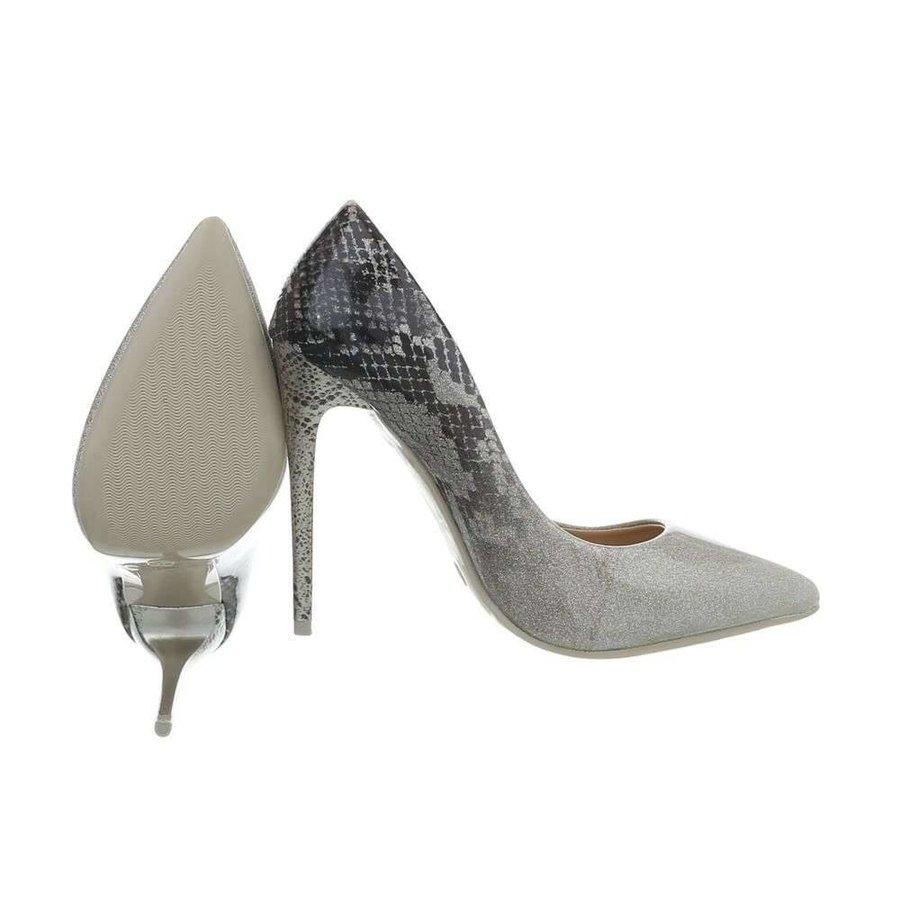 Damen Pumps mit einzigartigem Druck - Silber