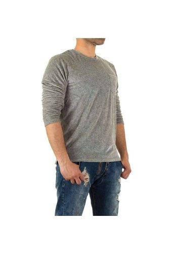Neckermann Sweatshirt Homme par Y.Two Jeans - gris