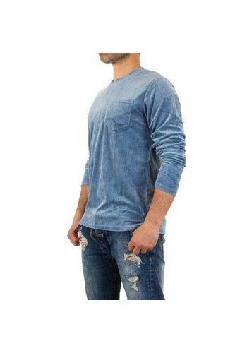 Neckermann Sweatshirt Homme par Y.Two Jeans - bleu
