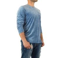 Sweatshirt Homme par Y.Two Jeans - bleu