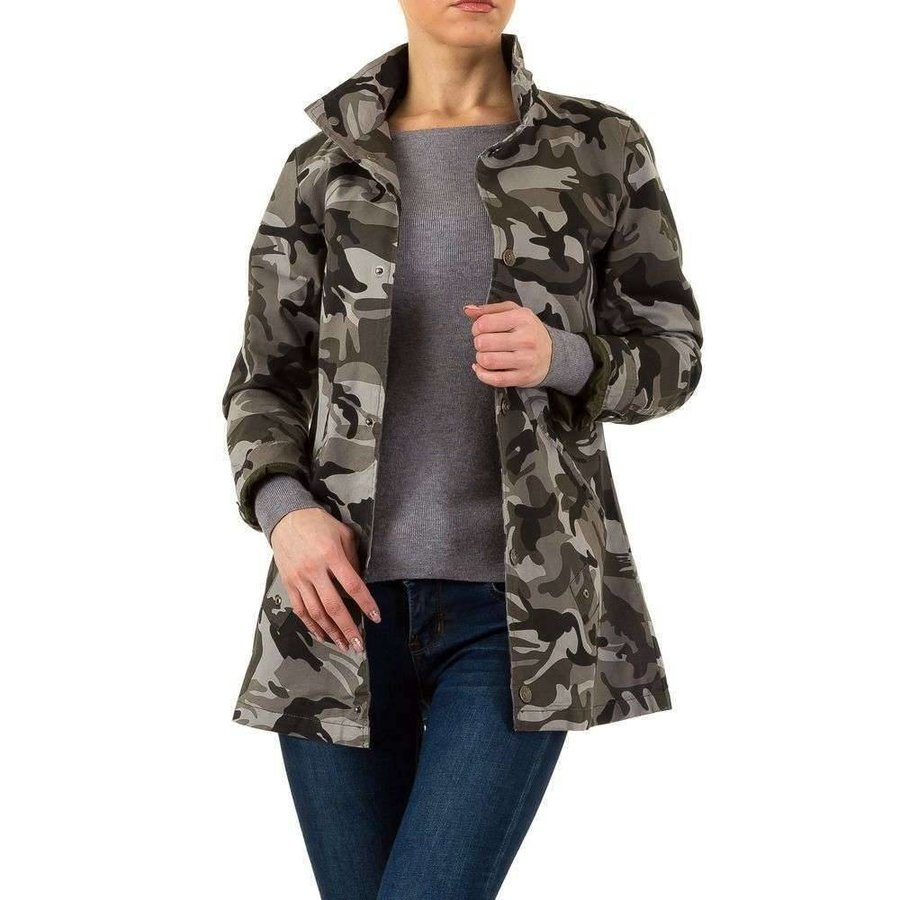 Fitted Damenjacke - Camouflage