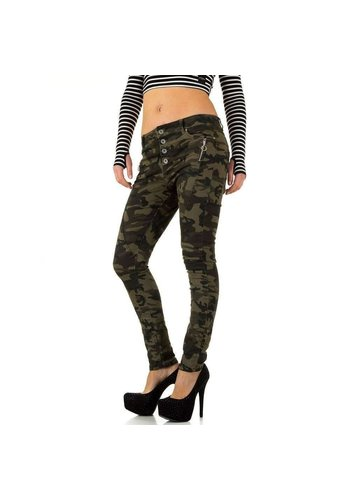 NEW PLAY Dames Jeans - armygreen