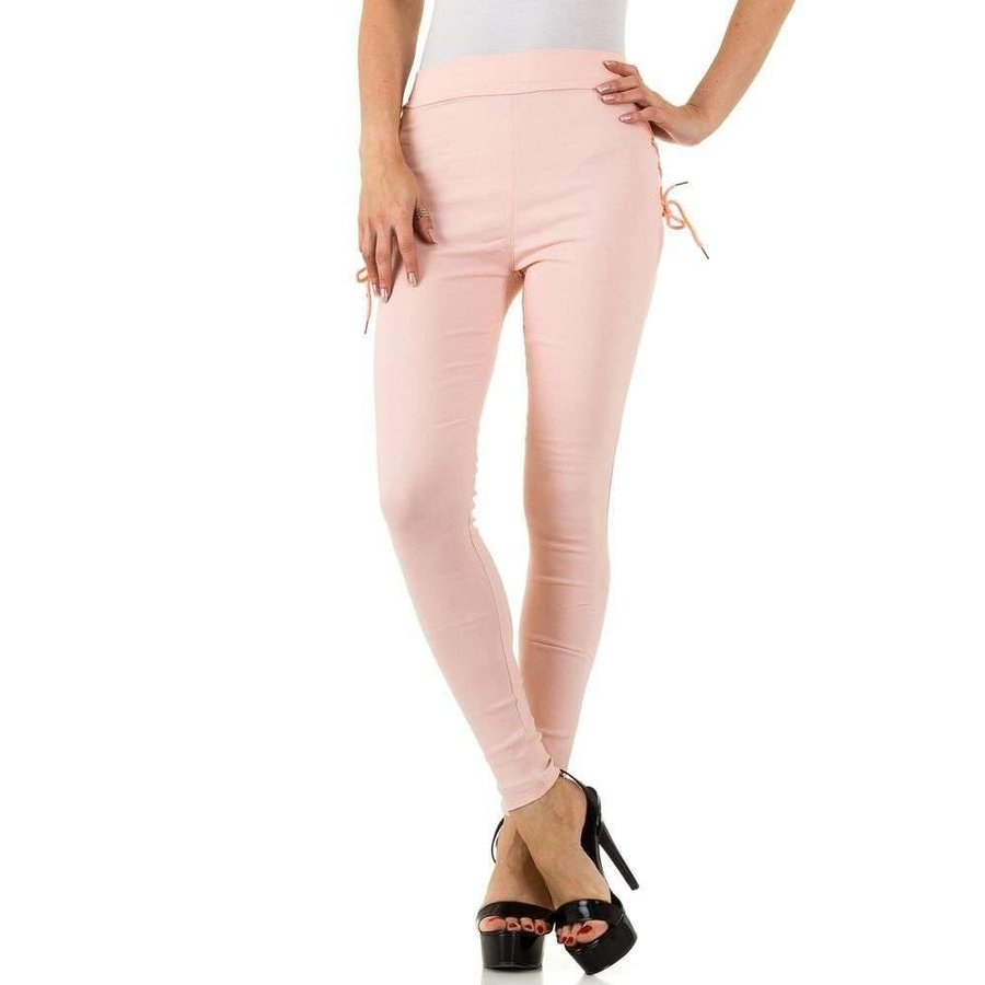 Damen Leggings mit Schnürung - pink