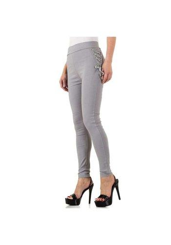 HOLALA Damen Legging mit Schnürung - grau