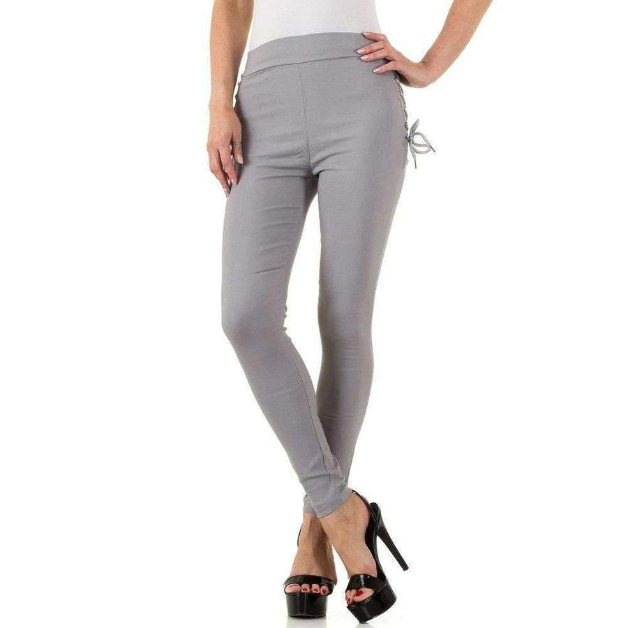 Damen Legging mit Schnürung - grau