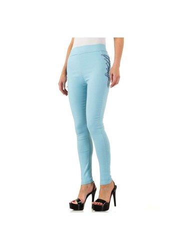 HOLALA Damen Leggings mit Schnürung - blau