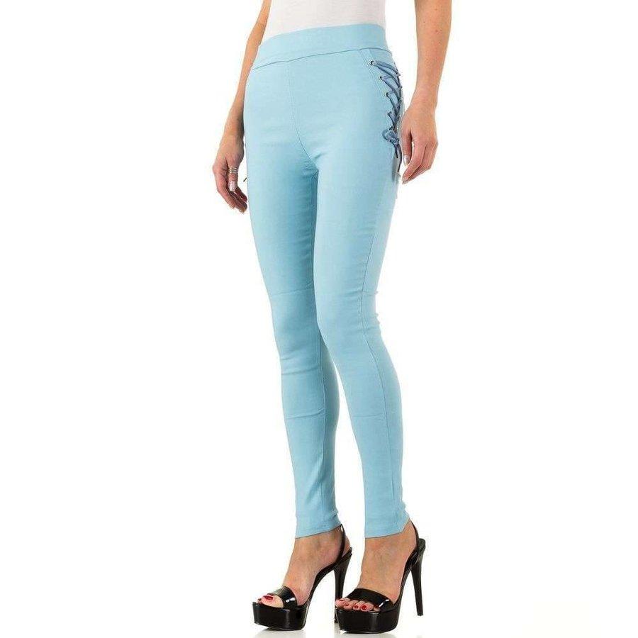 Damen Leggings mit Schnürung - blau