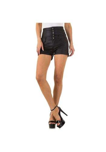 Daysie Jeans Hohe Damen Shorts - schwarz