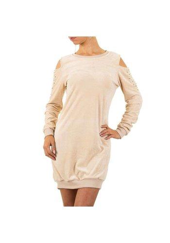 EMMA&ASHLEY Damen Kleid mit nackten Schultern - beige