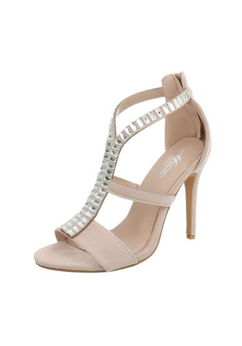 Neckermann Damen High Heels mit Steinen - beige
