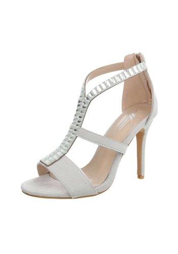 Neckermann Damen High Heels mit Steinen - grau