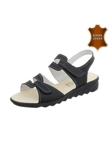Neckermann Dames Sandalen - zwart leer