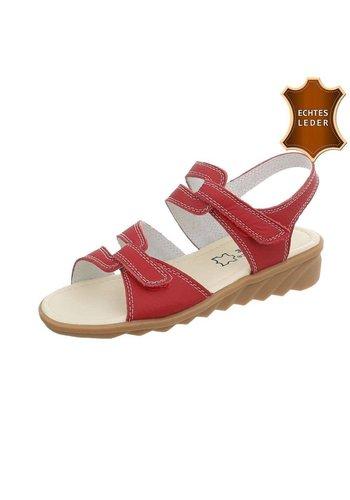 Neckermann Damen Sandalen - rotes Leder
