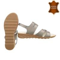 Damen Sandalen - Bronze Leder
