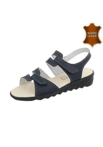 Neckermann Dames Sandalen - blauw leer