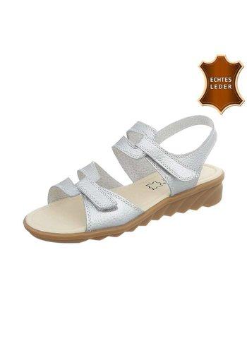 Neckermann Damen Sandalen - Silber Leder