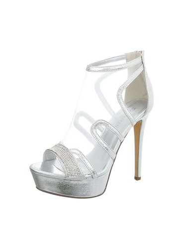 Neckermann Damen High Heels mit Peeptoe - Silber