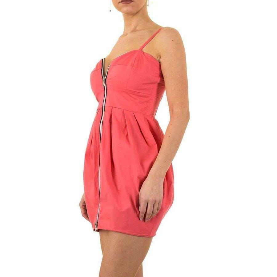 Damen Kleid mit Reißverschluss für - pink