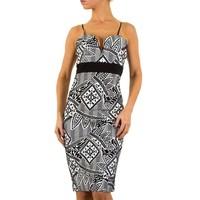 Damen Kleid - schwarz / weiß