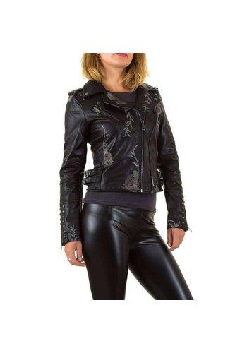 Neckermann Kurze Damenjacke mit Stickerei - schwarz