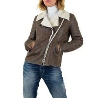 Damen Lammy Coat - grau