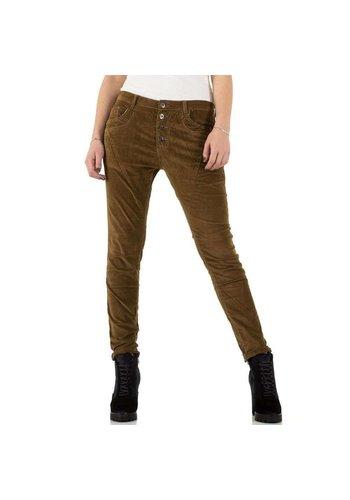 PLACE DU JOUR Dames Jeans - taupe