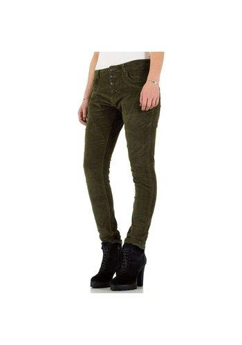PLACE DU JOUR Dames Jeans - kaki