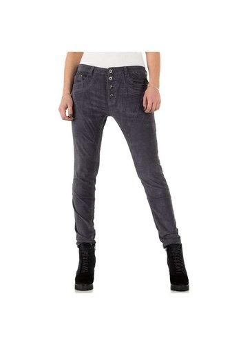 PLACE DU JOUR Dames Jeans - grijs