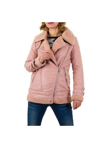 NOEMI KENT Fette Damenjacke - rosa Lederoptik