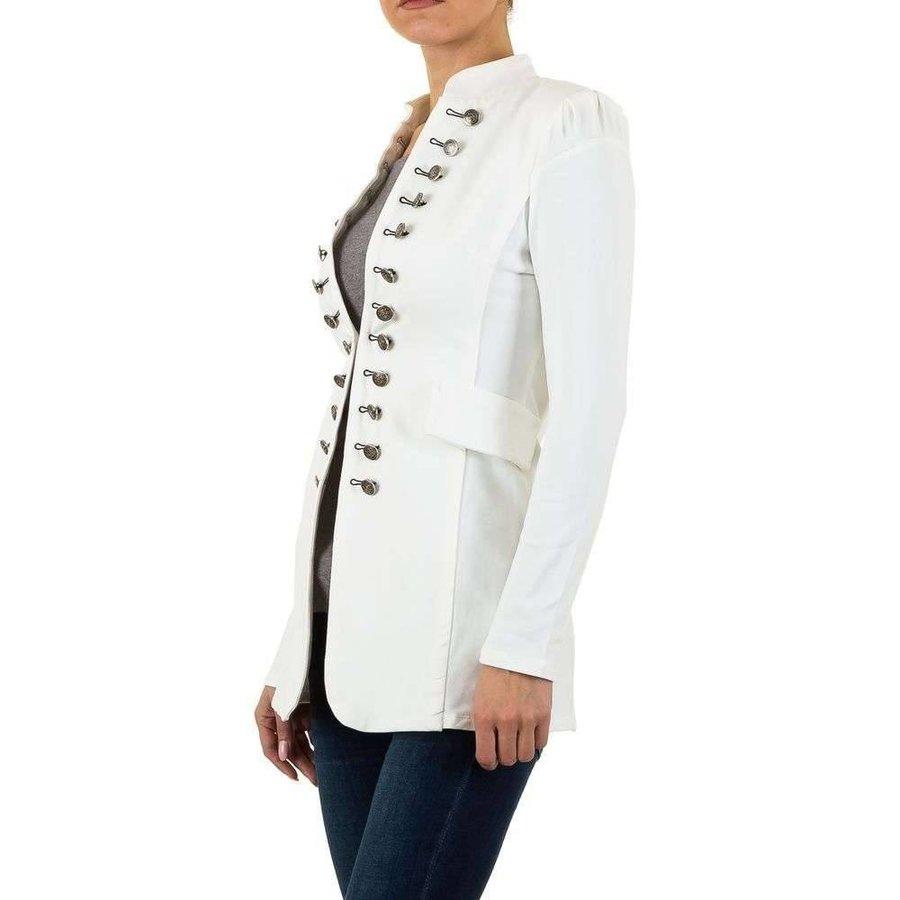 Lange Damen Blazer - weiß