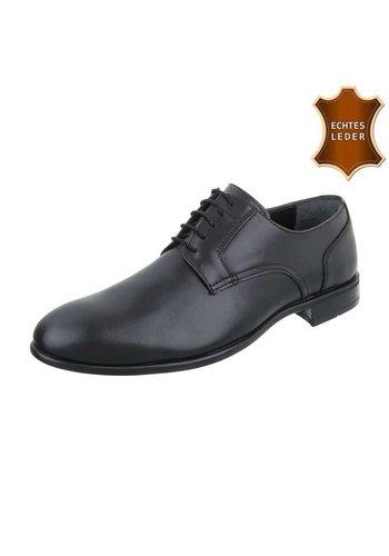 Neckermann Zakelijke lederen heren schoenen - zwart