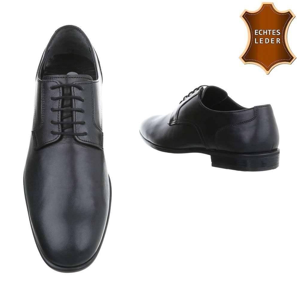 Zwart Heren Lederen Schoenen Zakelijke Neckermann x0gqTn