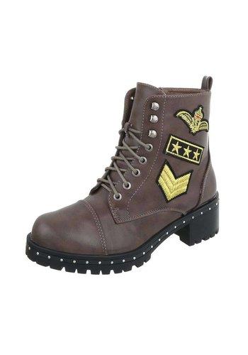 Neckermann Damen Stiefel im Air Force Stil - Khaki