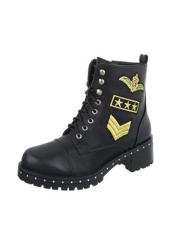 Neckermann Damen Stiefel in Air Force Style - schwarz