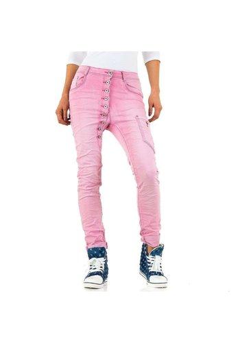 Mozzaar Dames Jeans - roze
