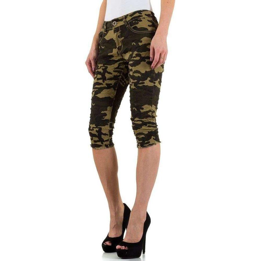 Dreiviertel Damen Jeans - armygreen