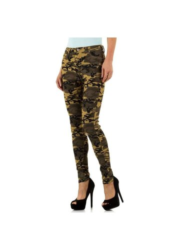 REGULAR DENIM Dames slim fit Jeans - army
