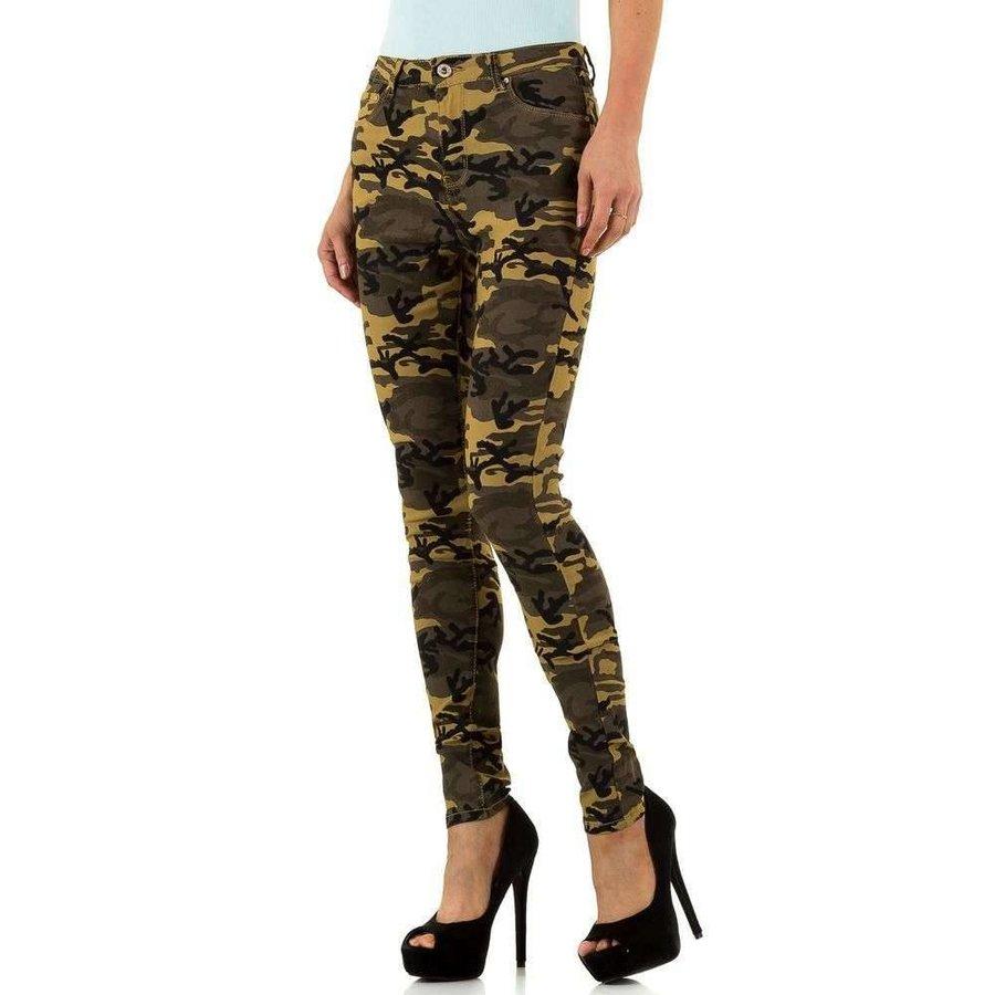 Damen Slim Fit Jeans - Armee