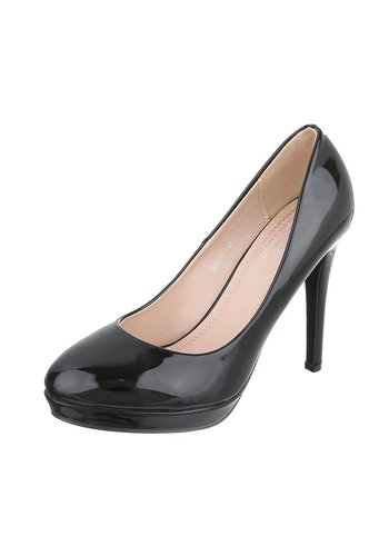 SMALL SWAN Damen Pumps - schwarzer Lack
