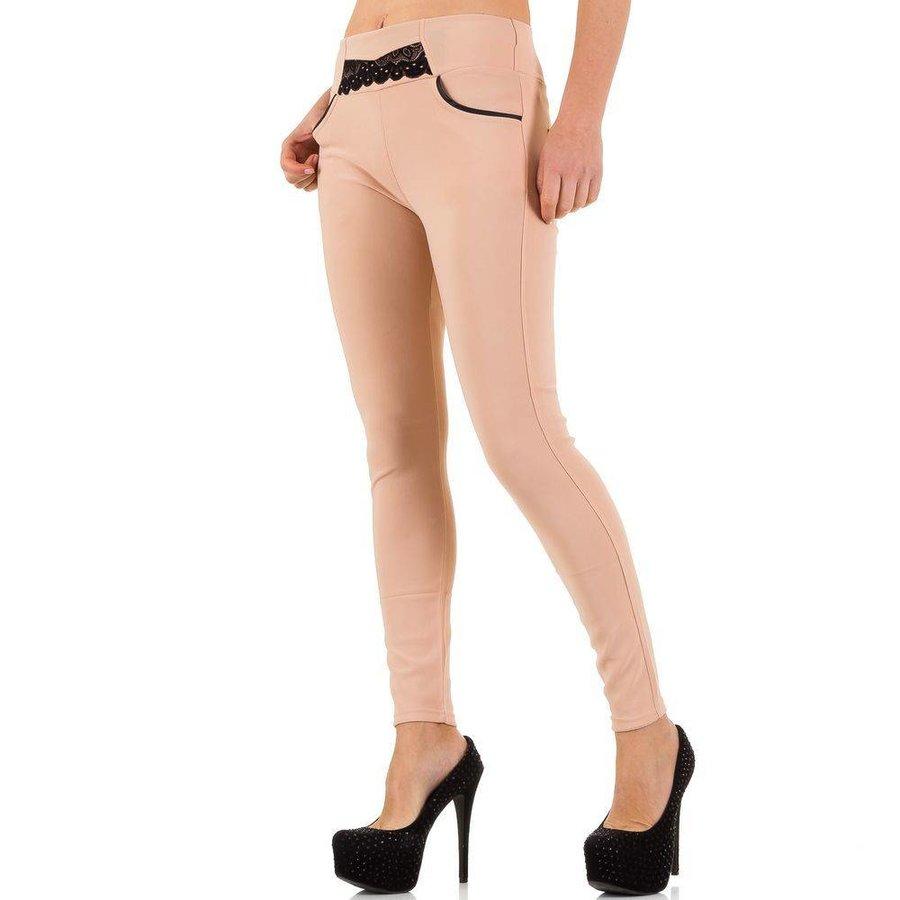 Damen Legging mit Taschen - pink
