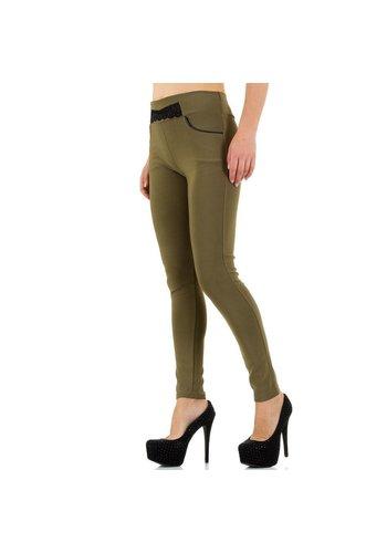 Best Fashion Damen Legging mit Taschen - Khaki